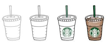 How To Draw A Starbucks Coffee Cup Drawing Reverse Search