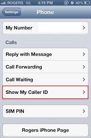 iPhone Hide or Block Your Caller ID