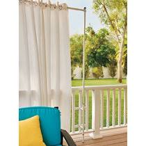 Telescoping Drapery Rod Kit by Outdoor Curtain Rod With Post Set Improvements Catalog