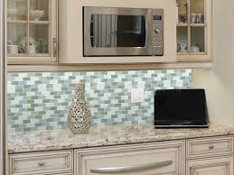 Vapor Light Blue Glass Subway Tile by Blue Tile Backsplash Marble And White Kitchen Nickel Pendant