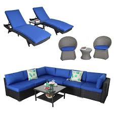 Amazon.com: Patio Furniture Large Sectional Set Outdoor Rattan Sofa ... Pillow Perfect Ggoire Prima Blue Chaise Lounge Cushion 80x23x3 Outdoor Statra Bamboo Adjustable Sun Chair Royal With Design Yellow Carpet Wning And Walls Rug Brown Grey Gray Paint Shop For Outime Patio Black Woven Rattan St Kitts Set Wicker Bright Lime Green Cushions Solid Wood Fntiure Best Rattan Garden Fniture And Where To Buy It The Telegraph Garden Backrest Cushioned Pool Chairroyal Salem 5piece Sofa Fniture Sectional Loveseatroyal Cushions2 Piece Sunnydaze Bita At Lowescom