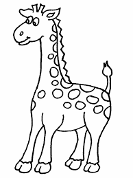 Cartoon Giraffe Coloring Pages 346