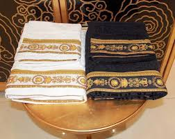 european style luxurious medusa decorative cotton bath towel set