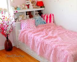 Mongolian Faux Fur Bedding Pink Mongolian Faux Fur Plush Soft
