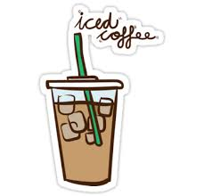 Iced Coffee Love 2 Stickers By PineLemon