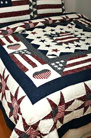 Americana Country Quilts Great America Flag Oversize Quilt Rustic Bedding