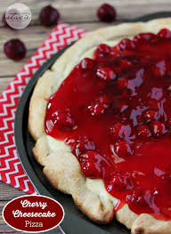 Cherry Cheesecake Pizza sink your teeth into a creamy cheesecake layer followed by sweet cherry