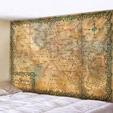 mysterious retro karte druck schlafzimmer wand hängen hause dekoration tapisserie böhmischen dekorative bettlaken sofa decke