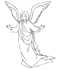 Printable Angel Coloring Pages For Kids Print Of Angels Free