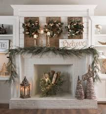 Holiday Fireplace Mantel Decorating Ideas