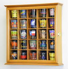 Leslie Dame Sliding Door Media Cabinet by Shot Glass Display Case Shot Glass Display Cabinet Shot Glass