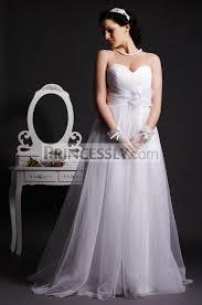 a line sweetheart empire waist layered pleats sweep tulle wedding