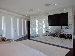 Luxury Custom Bedroom Mirrored Accent Wall A Focal