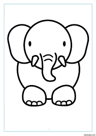 14 Elephant Face Coloring Pages 6768 Via Clipartsco