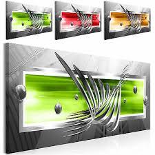 leinwand bilder abstrakt modern kugel 3d wandbilder wohnzimmer 3 farb design ebay