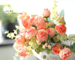 Free Shipping Fashion Silk Flower Rustic Artificial Tea Rose Bouquet Decoration France Bud