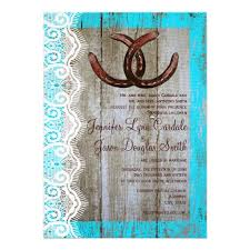 Rustic Teal Barn Wood Horseshoe Wedding Invitation EXPLORE An Amazing Collection Of