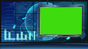 News 11 Broadcast Tv Studio Green Screen Background Loopable Motion