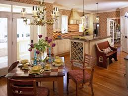 Of Charming French Country Kitchens Linda Dannenberg Textured Checkered For Wooden Square Dining Image Marvelous Kitchen Design