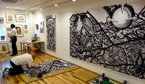 Sumi E Painting At Toyokuni Atelier Studio Chiyoda Ward Tokyo Japan