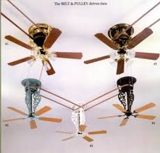 Belt Driven Ceiling Fan Diy by Belt U0026 Pulley Fans Pertaining To New House Ceiling Fan With System