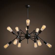 Novelty Pendant Light Vintage BlackWhite Spider Shaped Pendant Lamp