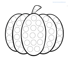 Printable Pumpkin Books For Preschoolers by Pumpkin Do A Dot Worksheet Pumpkin Printable Printable
