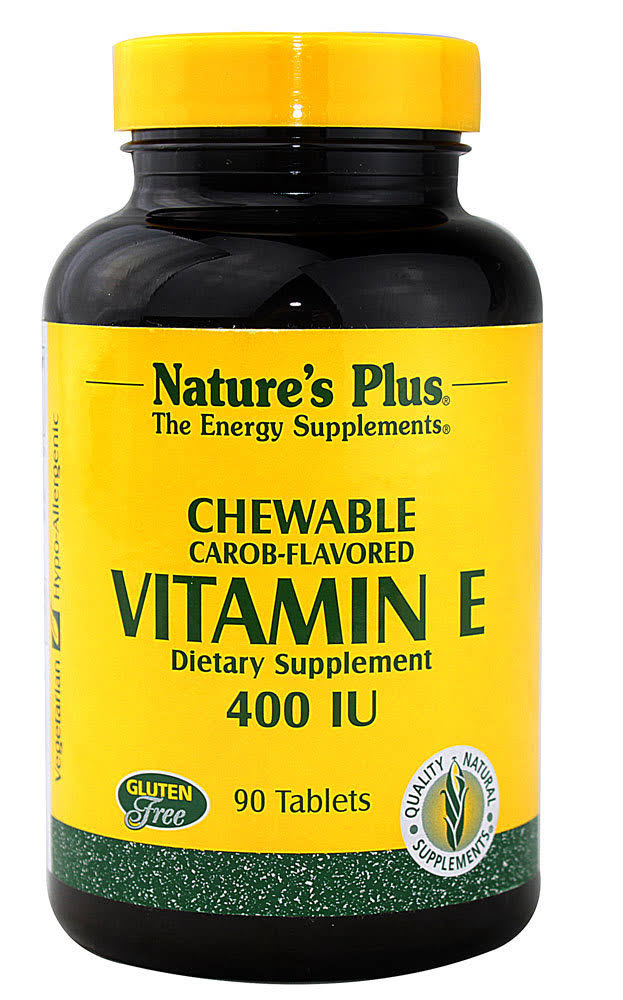 Nature's Plus Chewable Vitamin E 400 IU Dietary Supplement - 90 Tablets