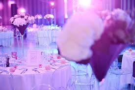 one day event vase martini noir hortensia blancs salle de