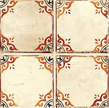 contessa pagoda 4 5 8 waxed tile in paprika and black