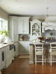 Furniture Gorgeous Kitchen Decoration Using Habersham Cabinetry Lovely L Shape With White Along Grey Mosaic