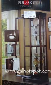 Pulaski Glass Panel Display Cabinet by Costco Pulaski Sliding Door Display Cabinet 369 99 Frugal Hotspot
