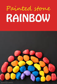Painted Stone Rainbow Craft For Kids Celebrate Spring With A Fun