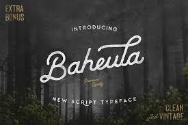 Baheula Vintage Typeface Font Fontlot