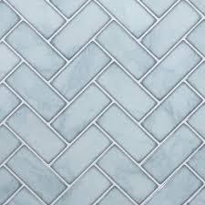 100 Marble Walls CTG Brands Herringbone Wall Tile 10 X 10 White 6Pack