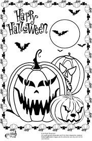 Scary Halloween Coloring Pages Free Printable Archives For Spooky