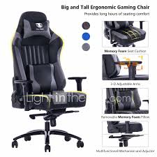 KILLABEE Big And Tall 400lb Memory Foam Gaming Chair Metal ... High Back Black Fabric Executive Ergonomic Office Chair With Adjustable Arms Rh Logic 300 Medium Back Proline Ii Deluxe Air Grid Humanscale Freedom Task Furmax Desk Padded Armrestsexecutive Pu Leather Swivel Lumbar Support Oro Series Multitask With Upholstery For Staff Or Clerk Use 502cg Buy Chairoffice Midback Gray Mulfunction Pillow Top Cushioning And Flash Fniture Blx5hgg Mesh Biofit Elite Ee Height Blue Vinyl Without Esd Knob Workstream By Monoprice Headrest