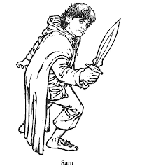 Free Printable Coloring Image Lord Of The Rings 001