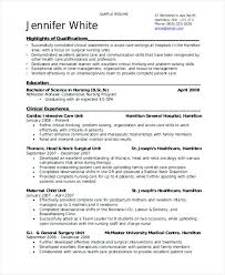 Sample Resume Of Student Employed Nurse College No Experience
