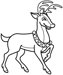 To Print Reindeer Coloring Page 45 In For Kids With