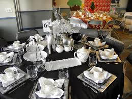 Dining Room Table Decorating Ideas For Christmas by Black And Silver Decorations Black Purple Silver Indoor Reception