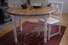Country Chic Dining Room Ideas by Round Shabby Chic Dining Table With White Paint Color Home