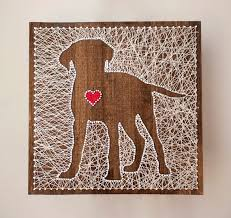 14x14 Custom String Art Of Your Dogs Breed With A Lovable Heart Every Piece Is
