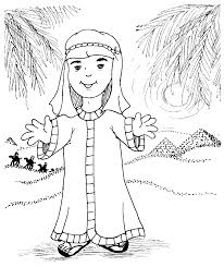 Josephs Coat Of Many Colors Coloring Page Inside Joseph And The
