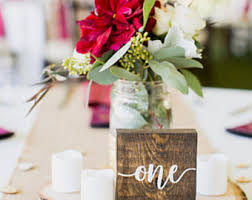 Wooden Table Numbers Set Of 20 Wedding Decor