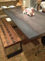 Rustic Style Metal Dining Table From Environment Furniture 4590 LOVE The Concept