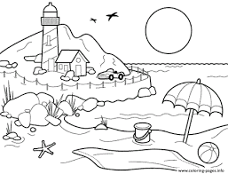 Hot Summer Beach S Printable For Preschoolersb123 Coloring Pages Print Download 338 Prints 2016 07 05