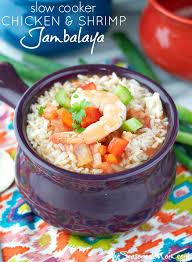 jambalaya crock pot recipe cooker chicken and shrimp jambalaya the seasoned