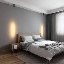 minimalistische lineare led pendelleuchte schwarz
