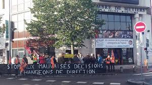 chambre des metier rouen manifestation boulevard de l europe des salariés de la